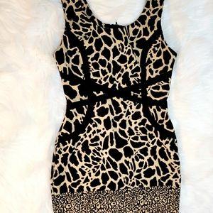 Ruby Rox New Taupe Sleeveless Animal-Print Bodycon Dress